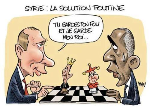 Obama et Poutine échecs